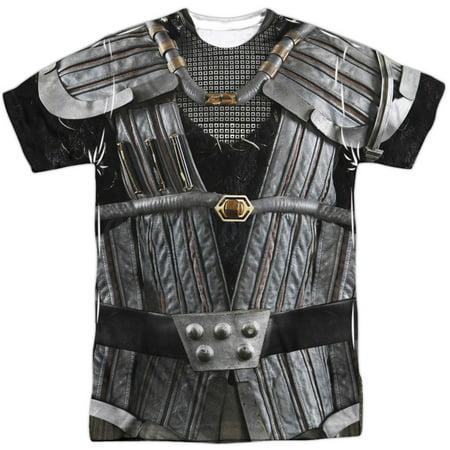 Star Trek Men's  Klingon Uniform Sublimation T-shirt White (Star Trek Uniform Buy)