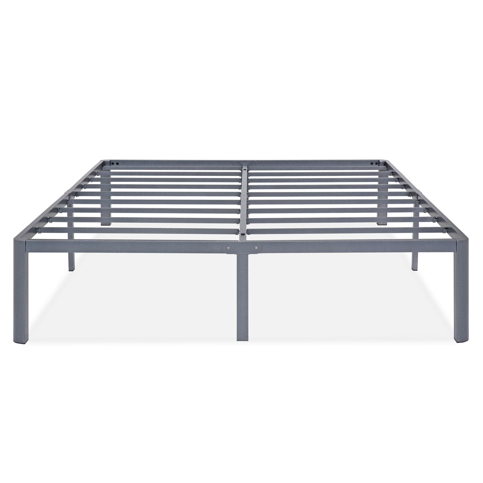 "GranRest 14"" Dura Metal Steel Slat Bed Frame, Twin by Grantec Co.; Ltd"