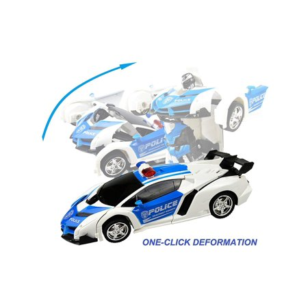 Kids Rechargeable Remote Control Deformation Car Robot Toy Caroj - image 4 of 6