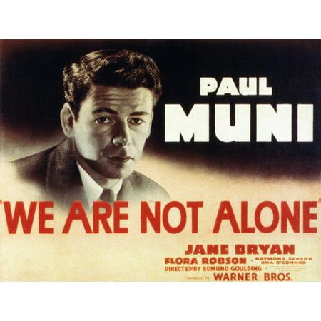 we are not alone paul muni 1939 movie poster masterprint