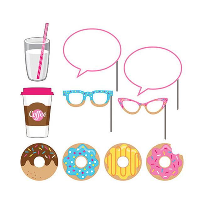 Group  Donut Time Photo Booth Props, Pack of 6 - 10 Per Pack