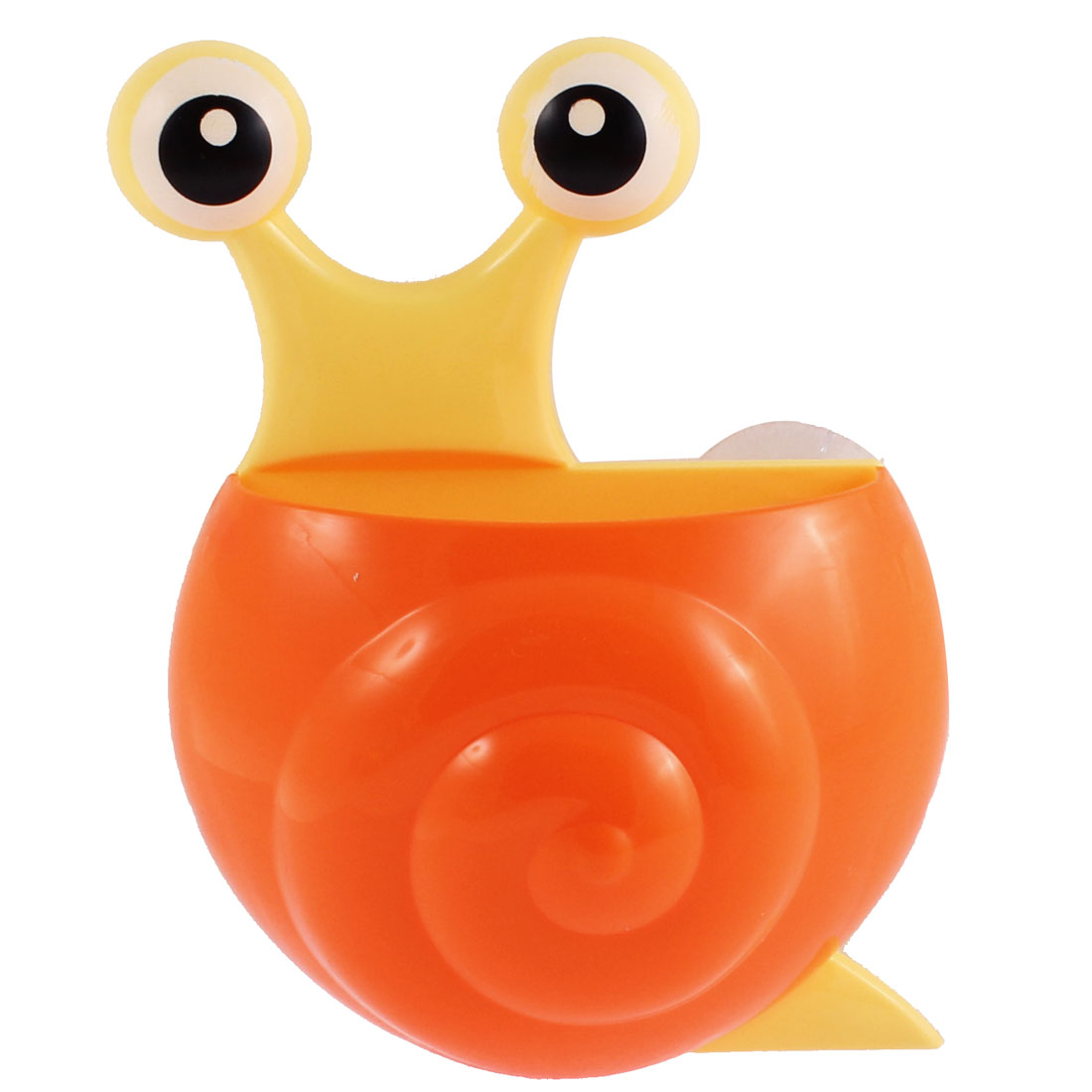 Uxcell Household Plastic Snail Design Suction Cup Toothbrush Holder Orange