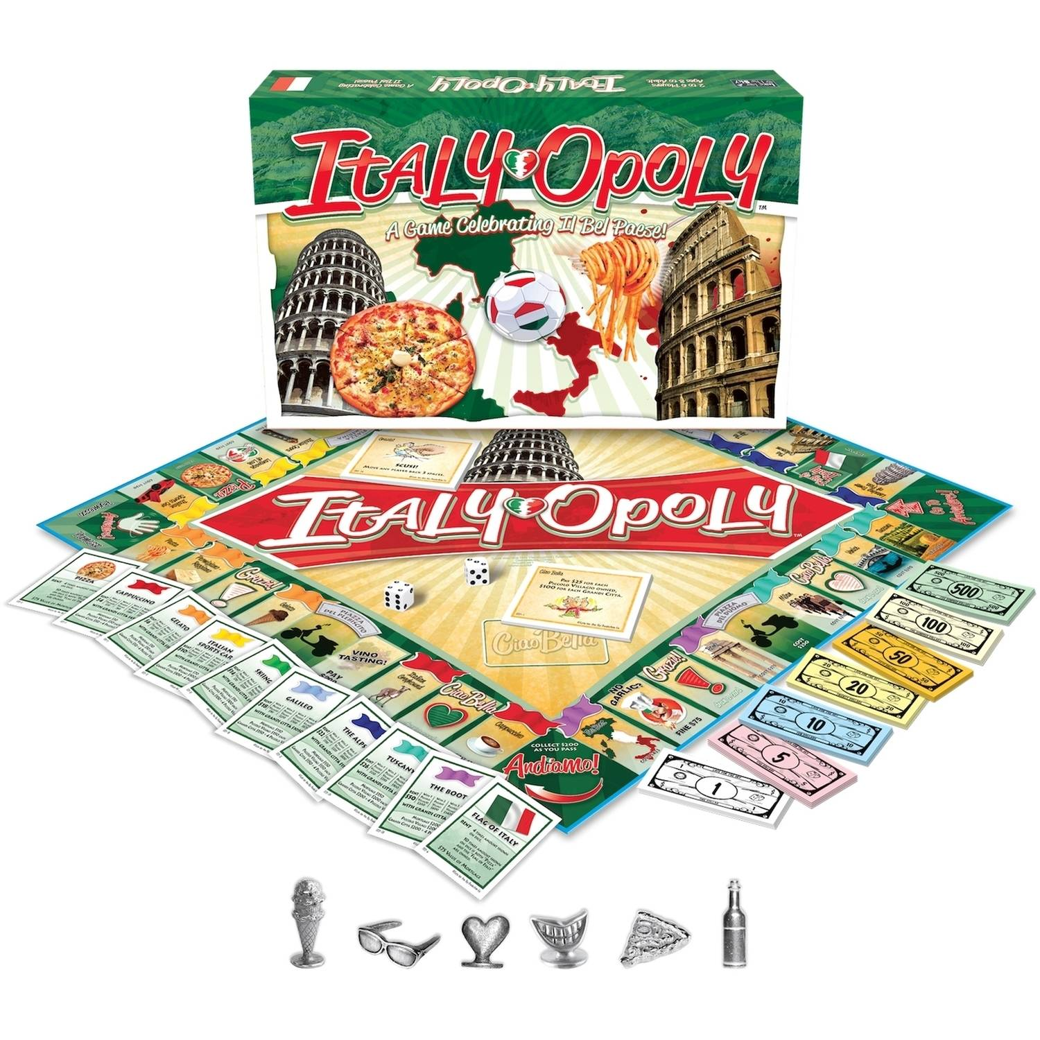 Late for the Sky Italy-opoly Game