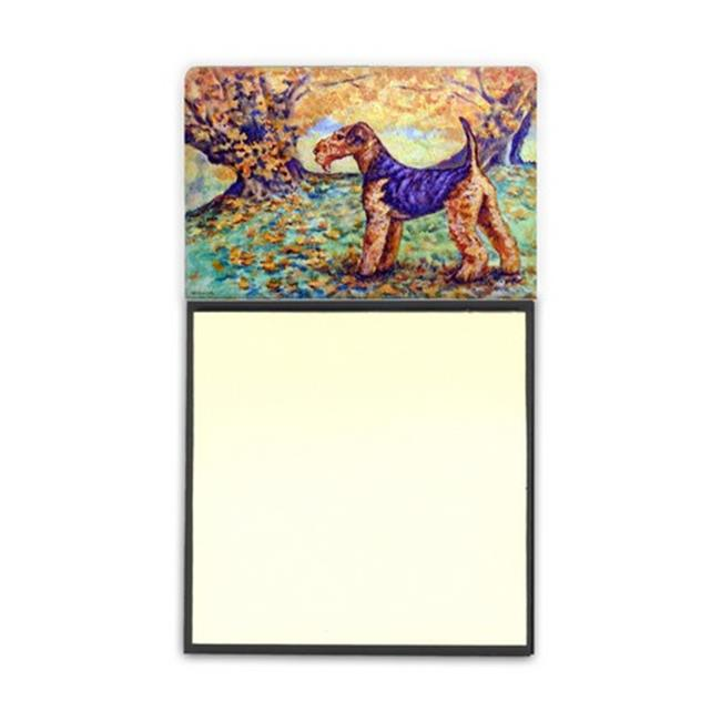 Carolines Treasures 7343SN Autumn Airedale Terrier Sticky Note Holder - image 1 of 1