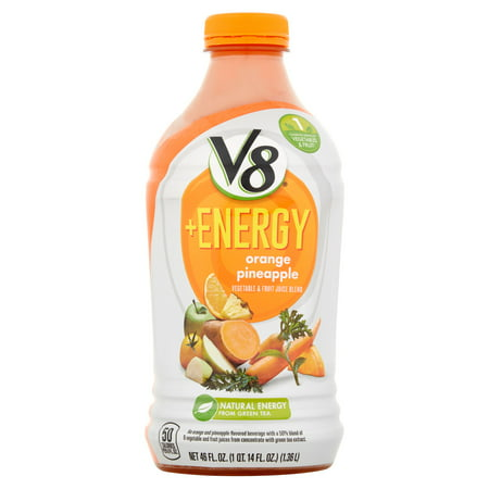V8  Energy Orange Pineapple Vegetable   Fruit Juice Blend  46 Fl Oz