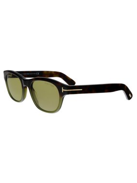 Tom Ford FT0530 55N O'keefe Havana/Olive Green Rectangular Sunglasses