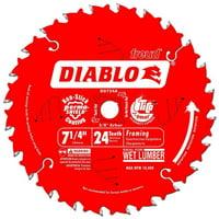 Diablo D0724A Circular Saw Blade, 7-1/4 in Dia, Carbide Cutting Edge, 5/8 in Arbor 10 Pack