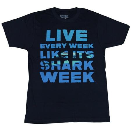 Shark Week Mens T-Shirt - Live Every Week Like Its Shark