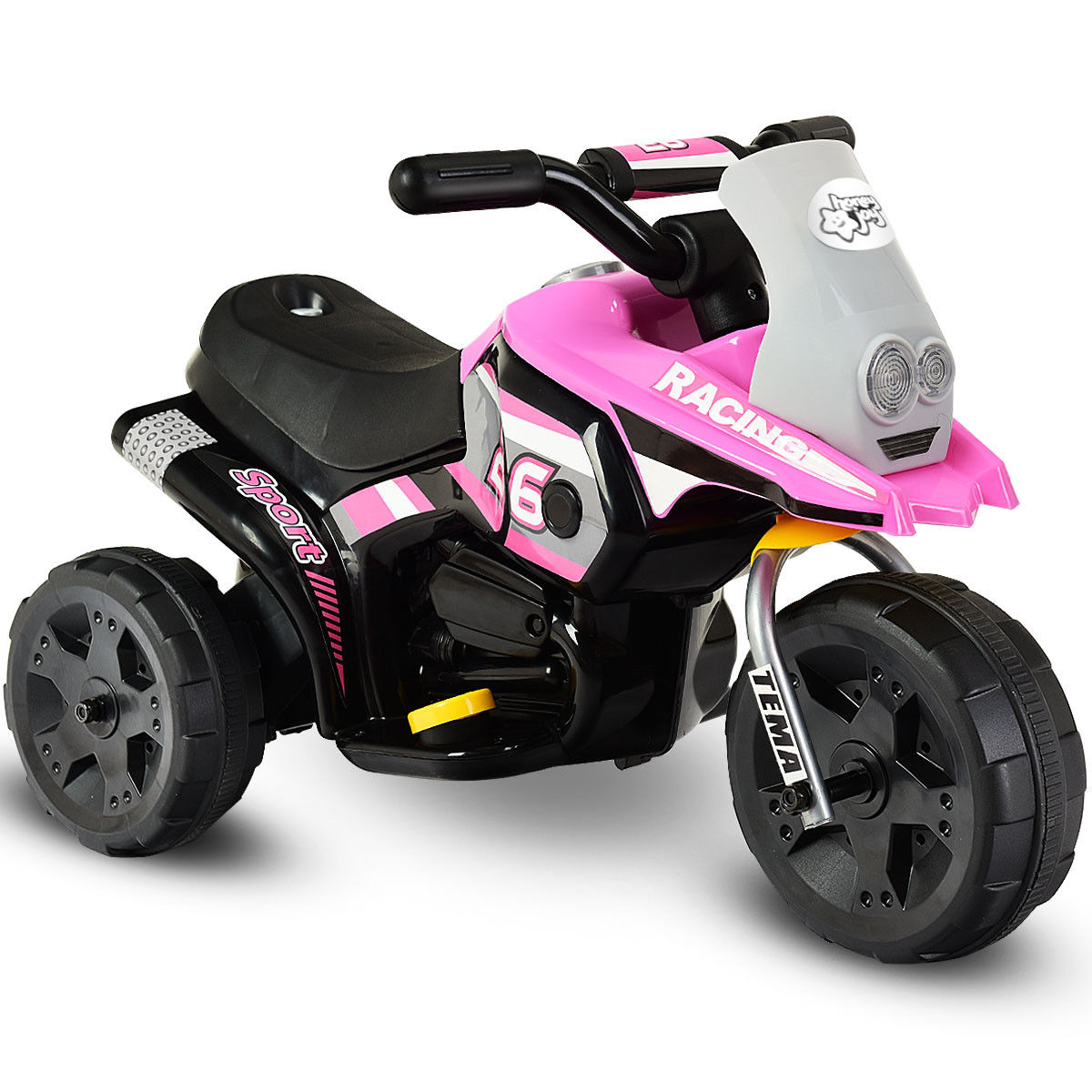6V Kids Ride On Motorcycle Battery Powered 3 Wheel Bicycle Electric Toy Pink by Costway