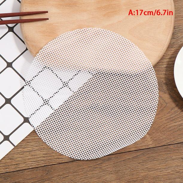 Dim Sum Paper Liners Steamer Non Stick Steam Mesh Mat kitchen Resusable YI