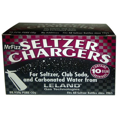 100 Leland (LE10 CO2) CO2 soda chargers - 8g C02 seltzer water cartridges - 10 boxes of 10