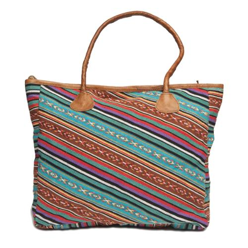 Moroccan Buzz Madhul Leather Tote Bag (Nepal)