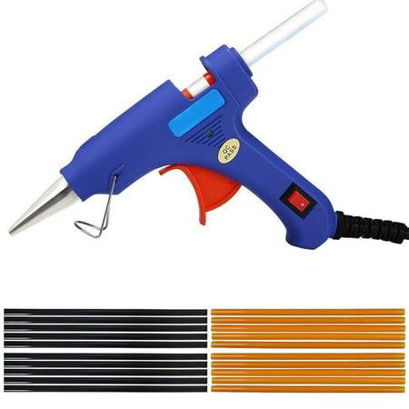 Hot Glue Gun Upgraded Version 20W Dual Power High Temp Heavy Duty Melt Glue Gun Kits with 20 Pcs Premium Glue Sticks for Arts & Crafts Use,Christmas Decoration/Gifts
