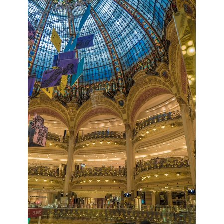 Canvas Print Glass Galleries Lafayette Mall Ceiling Structure Stretched Canvas 10 x (Mall Glasses)