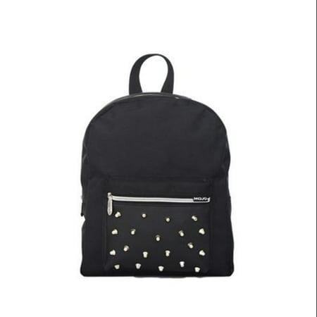Mojo Women Girls Black Studded Mini Biker Backpack School Book Bag ...
