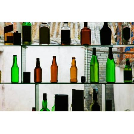 Bottles Displayed at Foreigner Bar, Old Town, Dali, Yunnan Province, China Print Wall