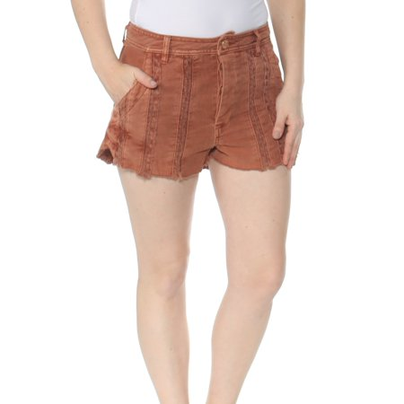 FREE PEOPLE Womens Orange Lacey Cotton Short  Size: 6 (Free People Shorts)