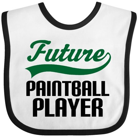 Inktastic Paintball Player tail green Baby Bib future paintballing occupations occupation job kids jobs gift clothing infant hws