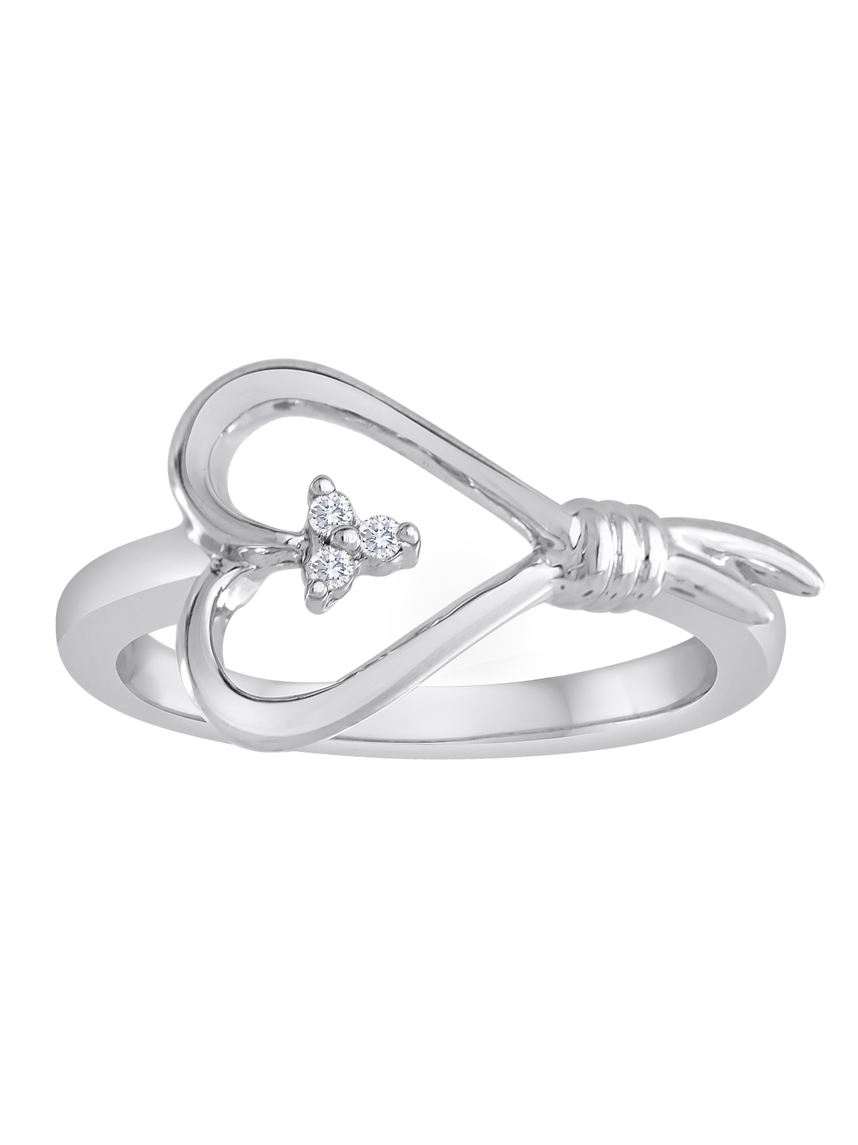 Sterling Silver and Diamond Accent Ring