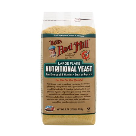 Bobs Red Mill Large Flake Food Yeast, 8 Oz (Nutritional Yeast Flakes)