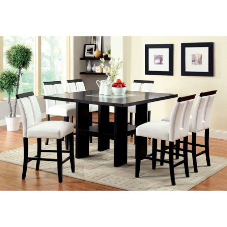 - Furniture of America Luminate Contemporary Illuminating Counter Height Dining Table