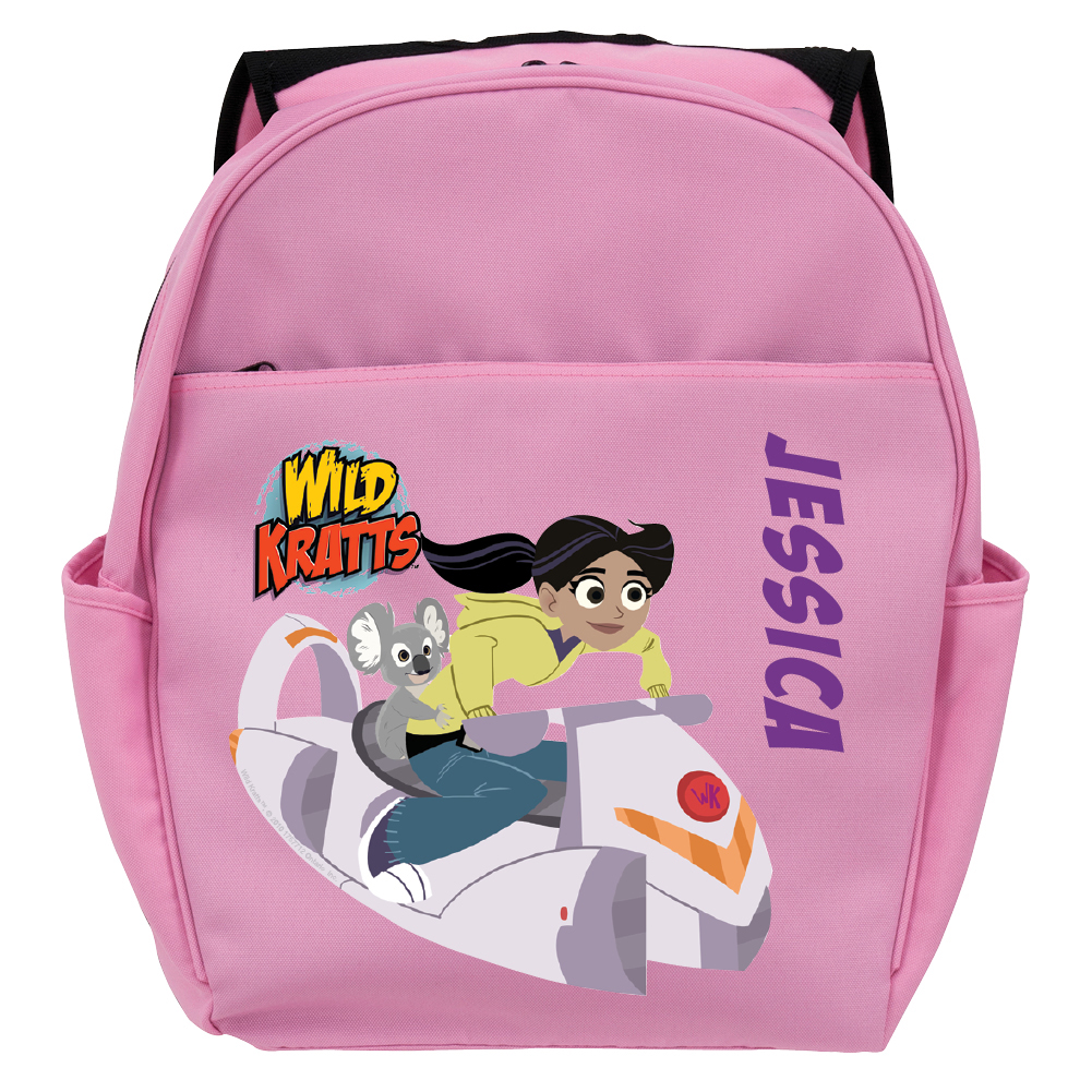 Personalized Wild Kratts Aviva and Koalaballoon Pink Toddler Backpack