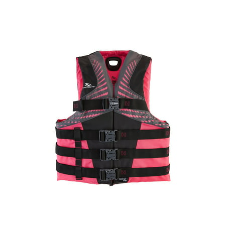Stearns Women's Infinity Nylon Life Vest for Adults 90+ Pounds, 2XL/3XL, Pink/Lime (Life Jacket Adult Small)
