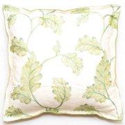 Corona Dcor Corona Decor Embroidered Leaves 18-inch Throw Pillow