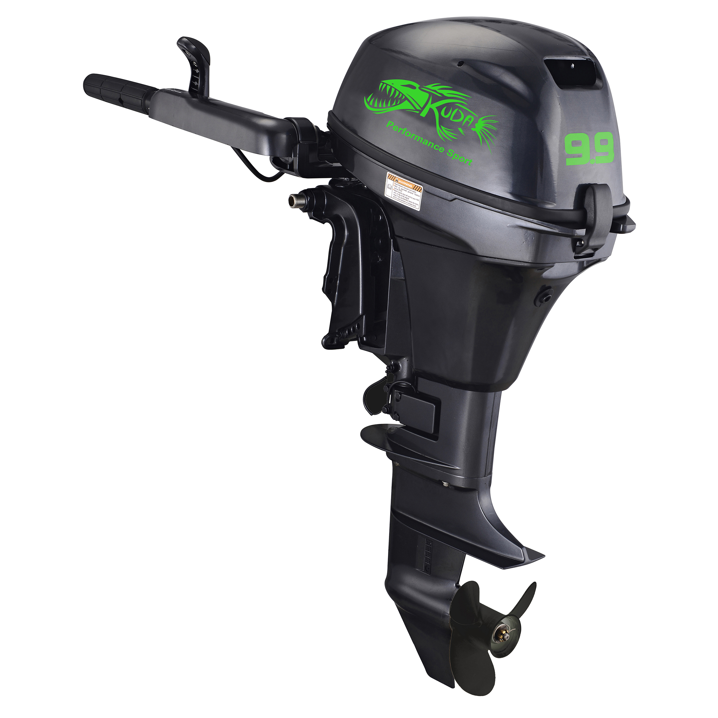 "Kuda 4 Stroke 9.9 HP Horse Power Outboard Motor Tiller, 5000 RPM, 17.9"" Shaft, Recoil Start"
