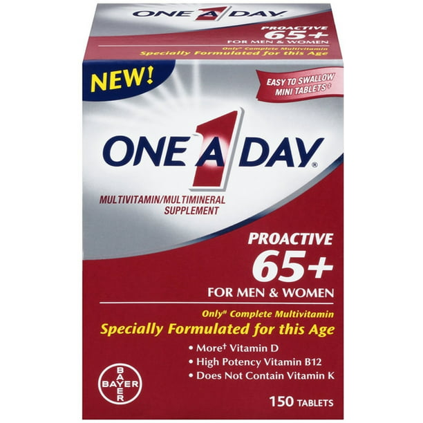 One A Day Proactive 65 Multivitamin Multi Mineral Tablets 1 150 Each Walmart Com Walmart Com