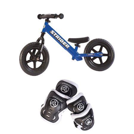 Strider 12 Sport Balance Bike + Elbow and Knee Pad Set for Kids 2 - 5 Years (Best Balance Bike For 2 Year Old)
