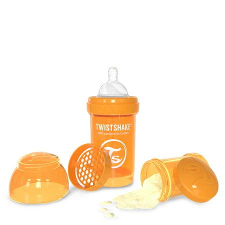 Twistshake Anti-Colic Baby Bottle & Accessories - 180ml/6oz - Orange - Sunbeam
