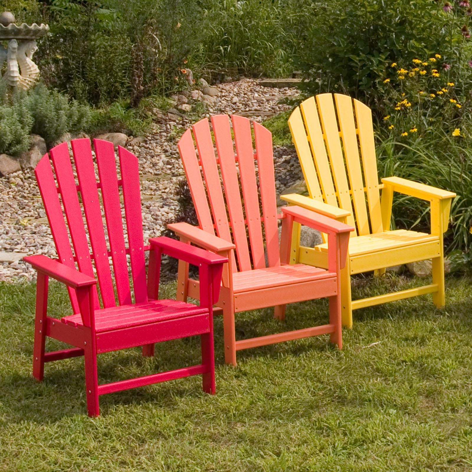POLYWOODu0026reg; South Beach Recycled Plastic Adirondack Chair   26.5W X 29D X  42.5H In.   Walmart.com