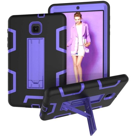 """for Galaxy Tab A 8.0"""" [SM-T387] 2018 Release, Hybrid Heavy Duty Shockproof Impact Resistant Armor Kickstand Defender - image 1 of 5"""