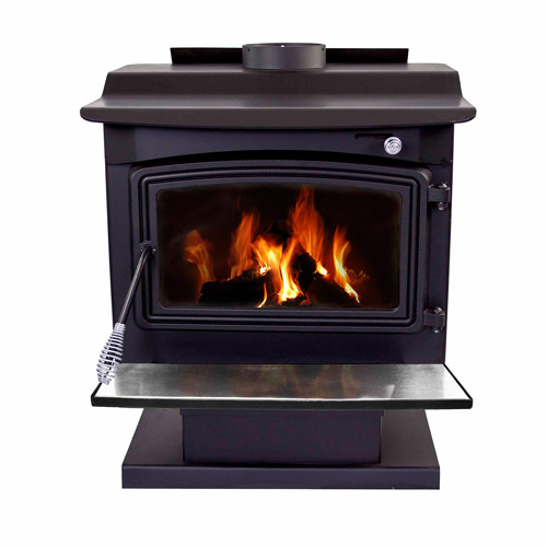 Pleasant Hearth Large Stove, Black Steel by GHP Group Inc