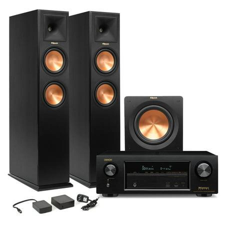 Denon AVR-X1300W 7 2 Channel Full 4K Ultra HD Network A/V Receiver and  Klipsch RP-260 2 1 Speaker Package (Ebony)
