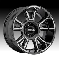 Helo HE914 Gloss Black Machined 20x9 8x180 0mm (HE91429088300)