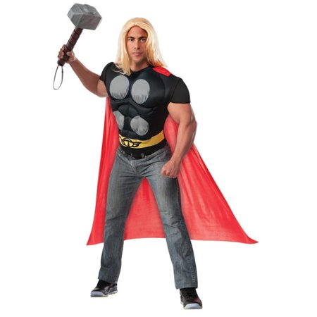 Morris Costumes RU820019 Thor Muscle Chest Shirt Adult - Adult Thor Costumes