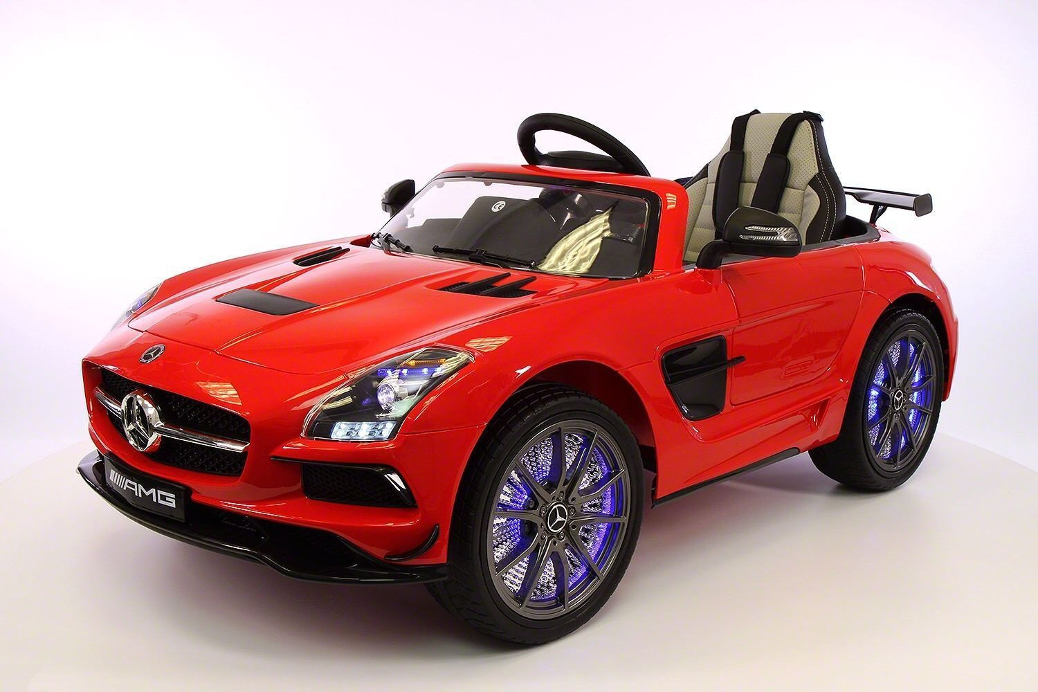 mercedes sls amg battery powered ride on car with mp3 mp4 and remote control red walmartcom