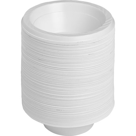 Genuine Joe Reusable Plastic Bowls, 12 oz, 125 pack, GJO10424 12 Oz White Plastic Bowl