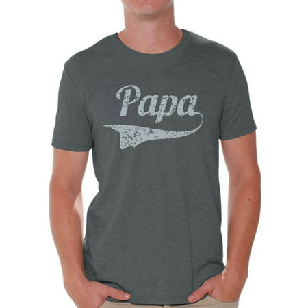 Awkward Styles Papa T Shirt for Men Men's Graphic T-shirt Tops Vintage Father`s Day Gift for Daddy Best Dad Ever Shirts Papa Gifts from Daughter Father Gifts from Son Dad