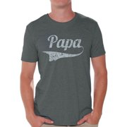 Awkward Styles Papa T Shirt for Men Men's Graphic T-shirt Tops Vintage Father`s Day Gift for Daddy Best Dad Ever Shirts Papa Gifts from Daughter Father Gifts from Son Dad Tshirt