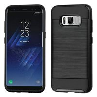 For Samsung Galaxy S8 Plus Brushed Hybrid Dual Layer Hard Protector Case Cover