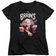 IZombie Brains And Beauty Womens Short Sleeve Shirt