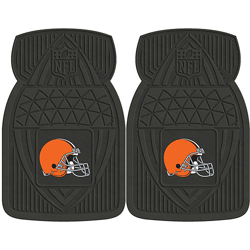 NFL 2-Piece Heavy-Duty Vinyl Car Mat Set, Cleveland Browns