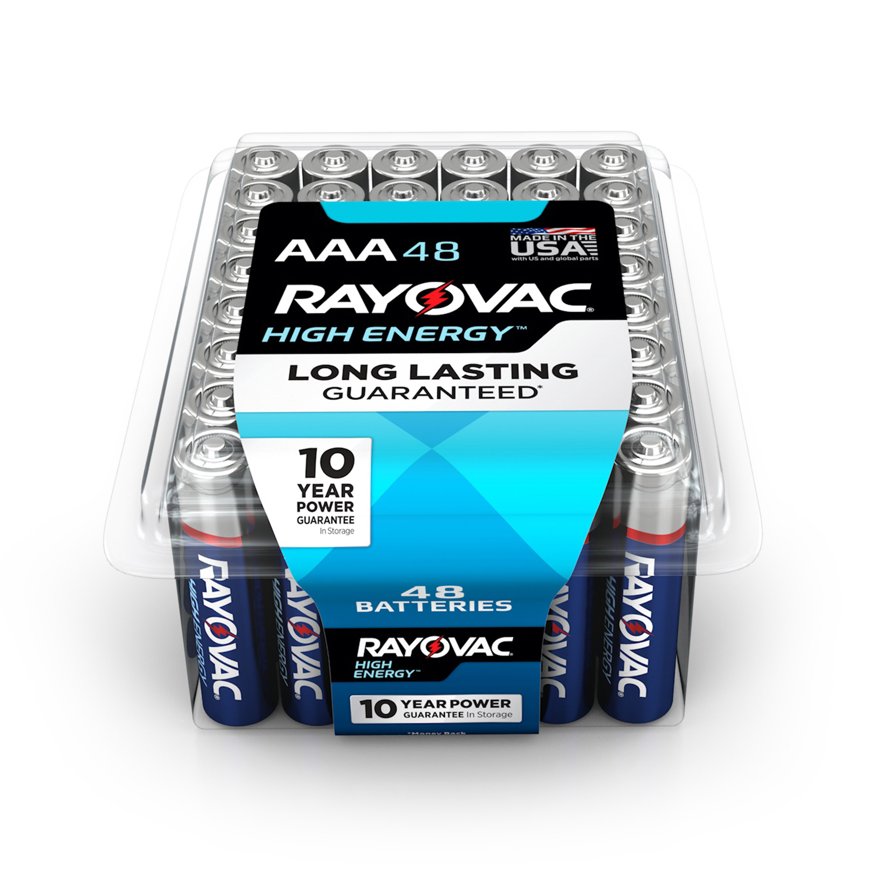 Rayovac High Energy Alkaline AAA Batteries, 48 Count