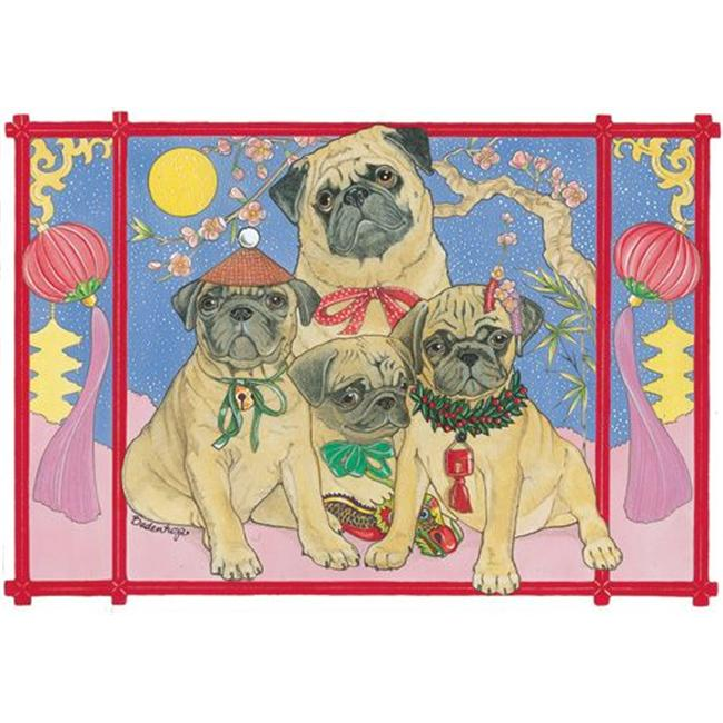 Pipsqueak Productions C856 Pug Holiday Boxed Cards