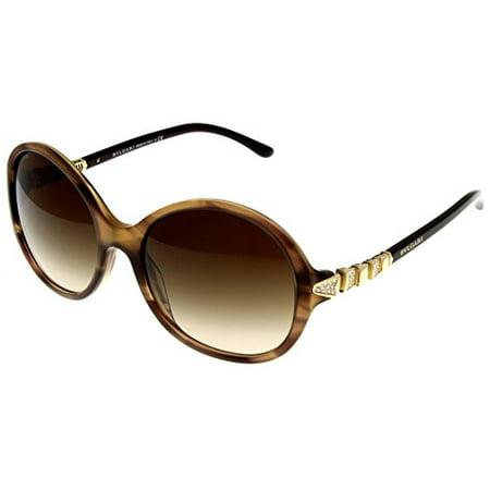 Bvlgari Sunglasses Womens Brown Round BV8140B - 524013 Size: Lens/ Bridge/ Temple: 56-18-140