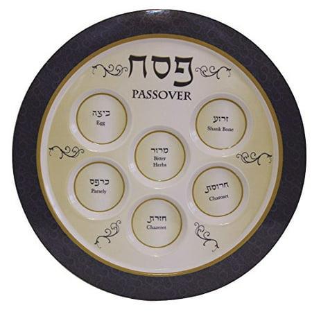 Ben and Jonah Melamine Blue Seder Plate