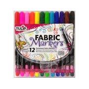 Tulip Fabric Marker Fine Tip, 12 Piece